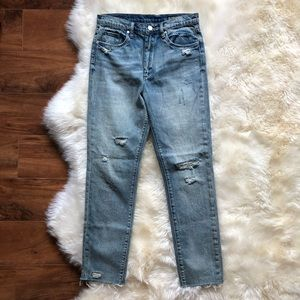 Blank NYC The Rivington Distressed High Rise Jeans